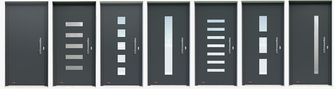 prémium alumínium bejárati ajtók